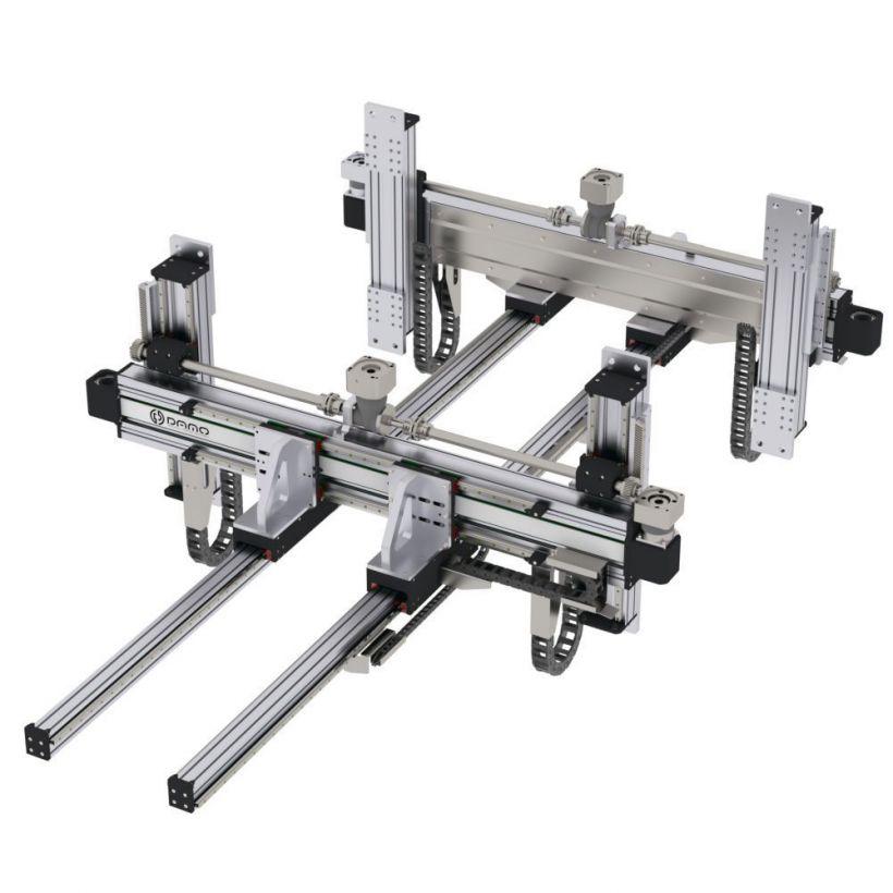 Sheet metal machinery feeding - Dual bar